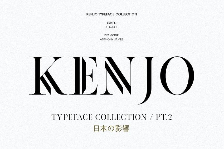 KENJO Style English Font