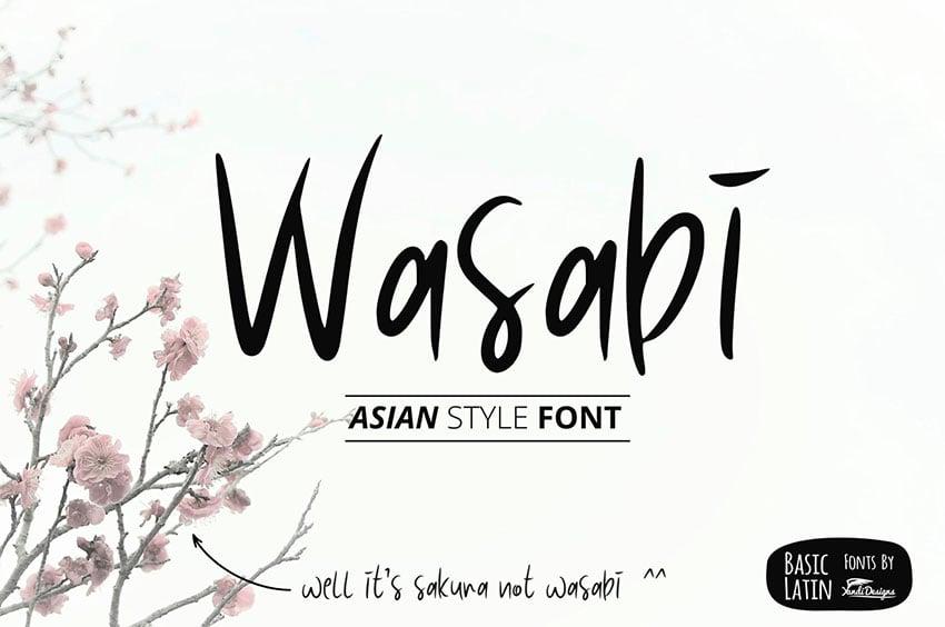 Wasabi Japanese Calligraphy Style Font