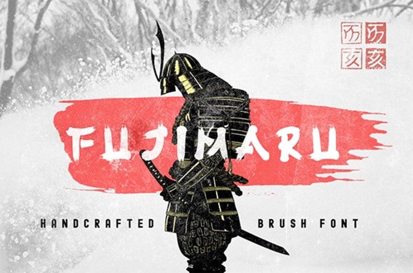 Fujimaru - Japanese Calligraphy Style Font