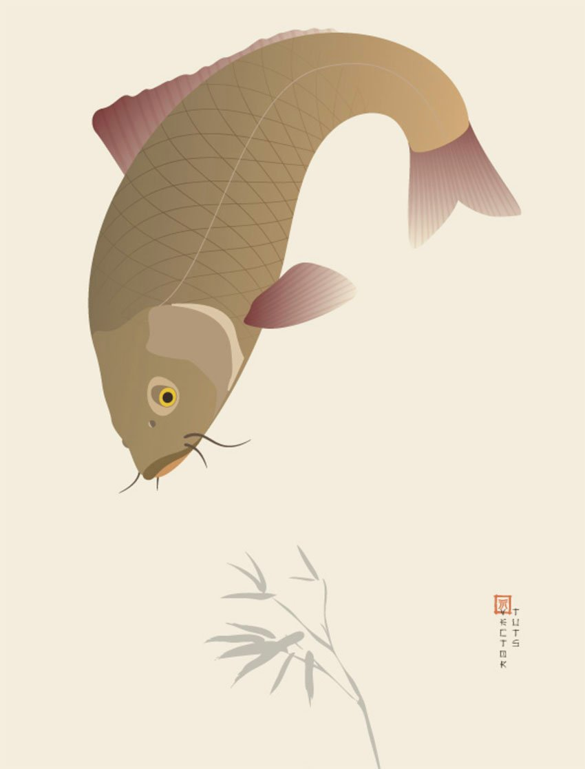 Create a Traditional Japanese Koi Carp Illustration