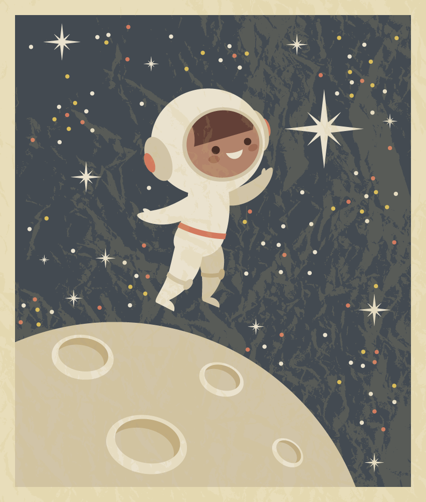 How to Create a Retro Poster With an Astronaut Child in Adobe Illustrator