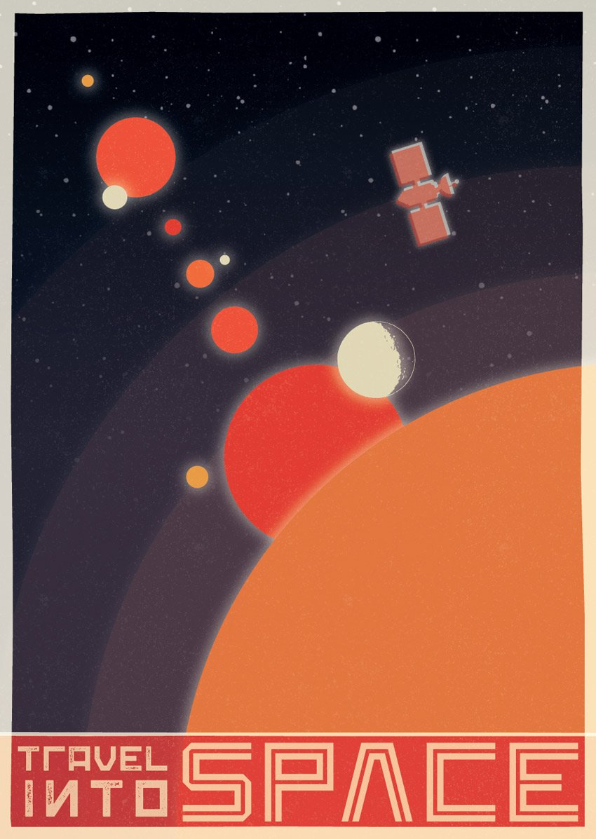 How to Create a Vintage Soviet Space Travel Poster in Adobe InDesign