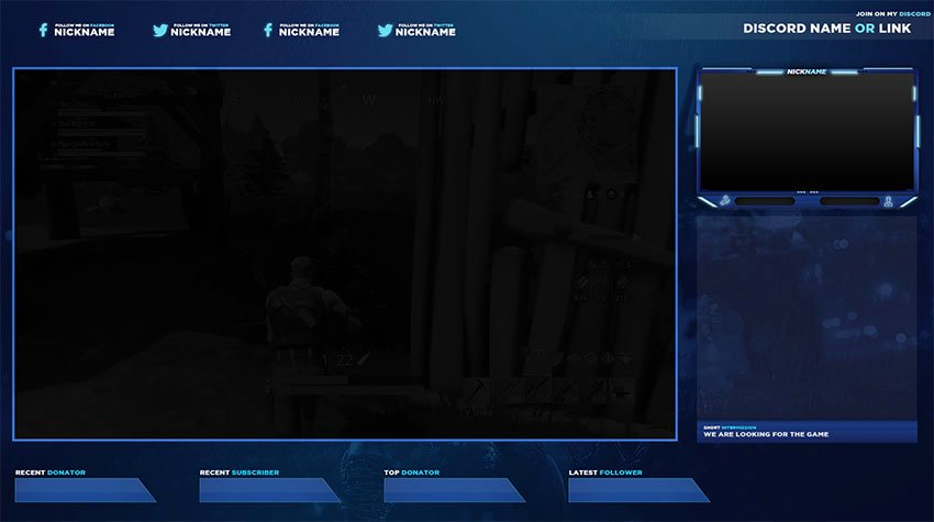 Free Twitch Stream Overlay Template