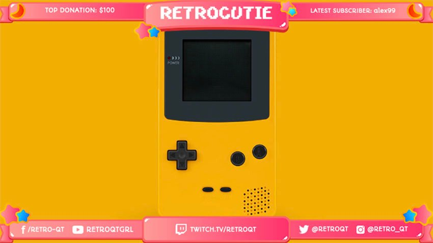 Twitch Overlay Maker with Retro Game Images