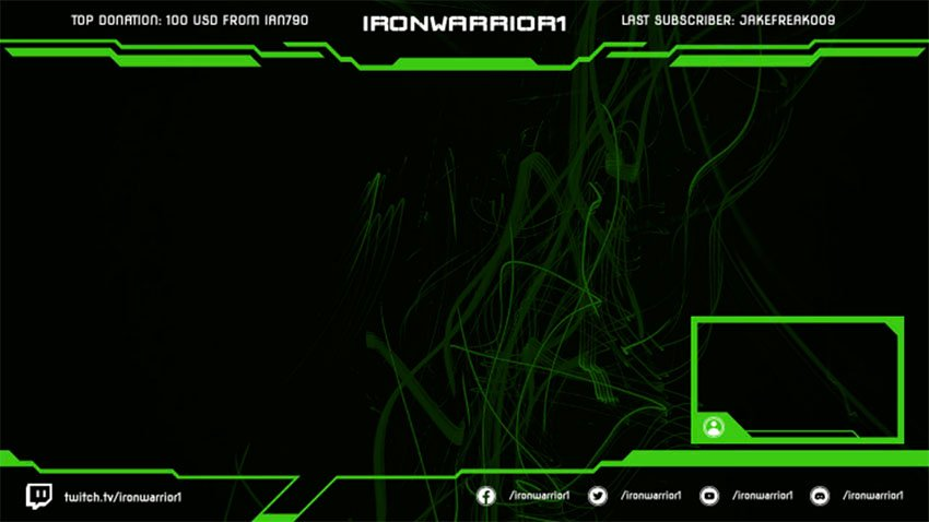 Eerie Twitch Overlay Template With Web Frame