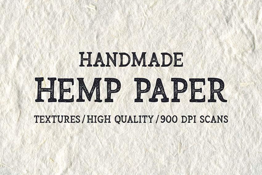 Handmade Hemp Paper Textures