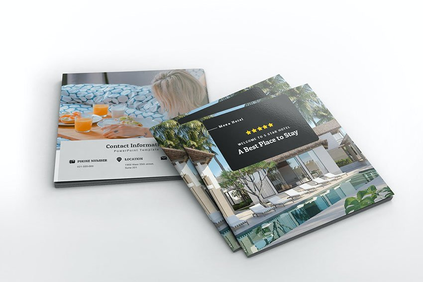 Moxa Hotel Square Brochure Template