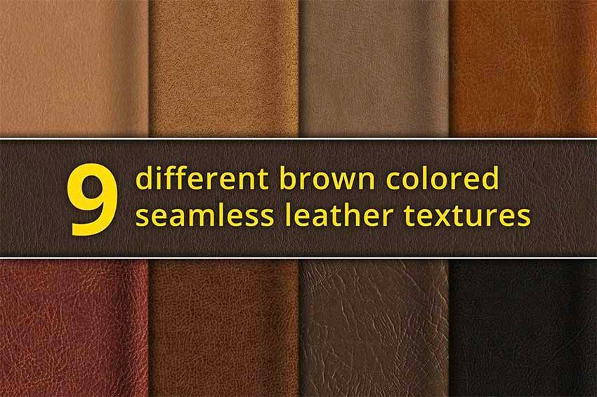 Seamless Brown Leather Texture Photoshop