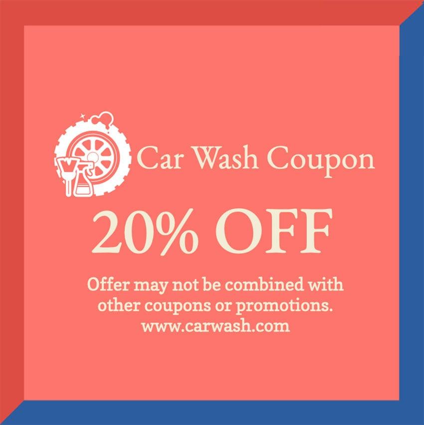 Car Wash Coupon Template