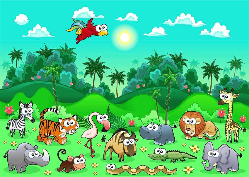 Wild Animals Illustrations