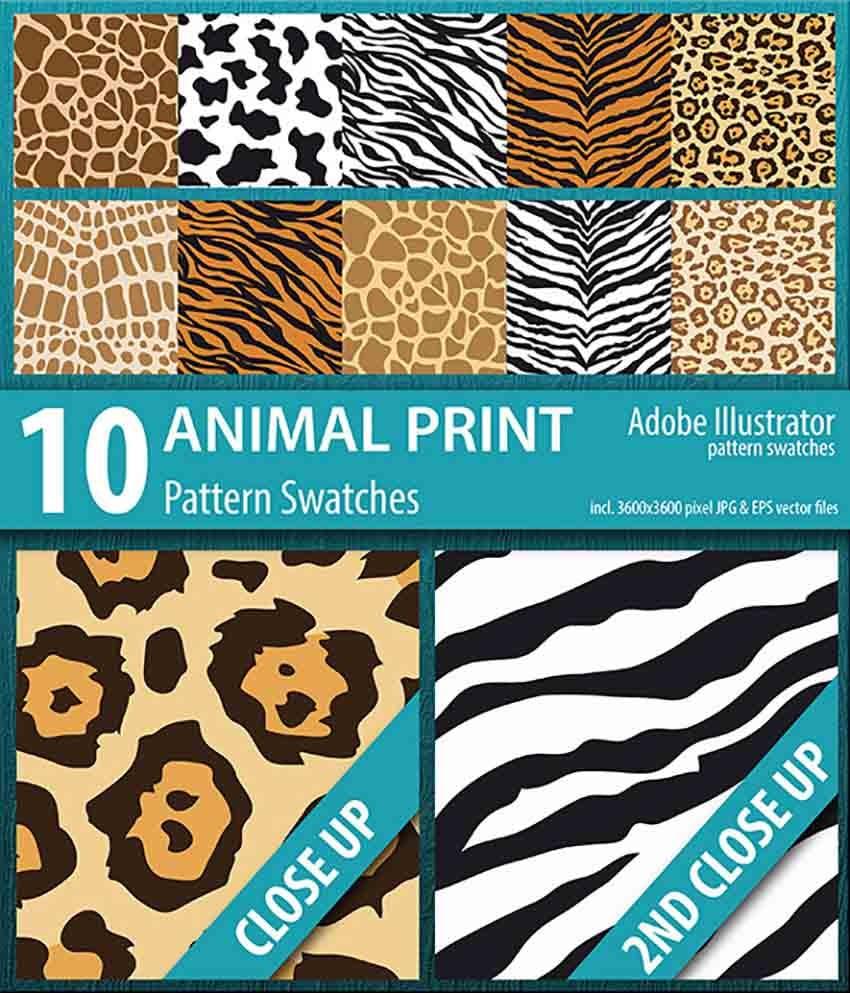 10 Animal Print Illustration