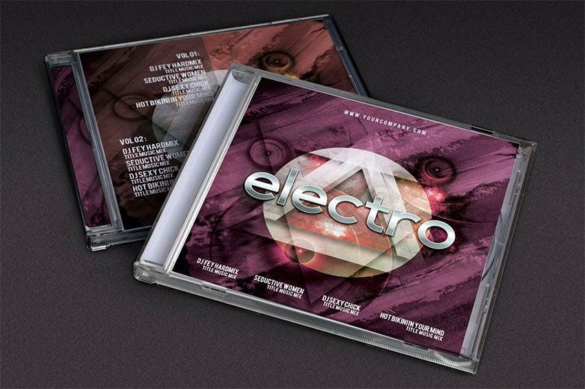 Cover Futuristic Music Template (PSD)