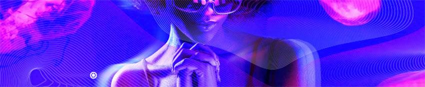 SoundCloud Banner Featuring an Artist and Neon Lights