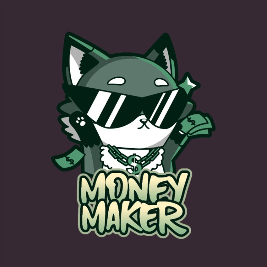 Twitch Emote Creator of a Fox with Money