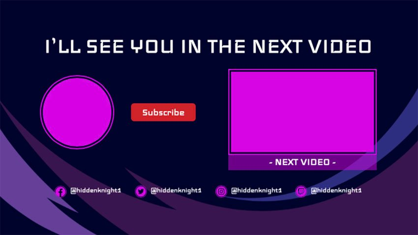 Simple YouTube End Card Template