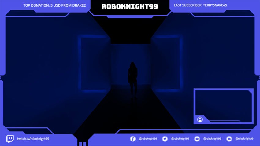 Twitch Webcam Overlay Template