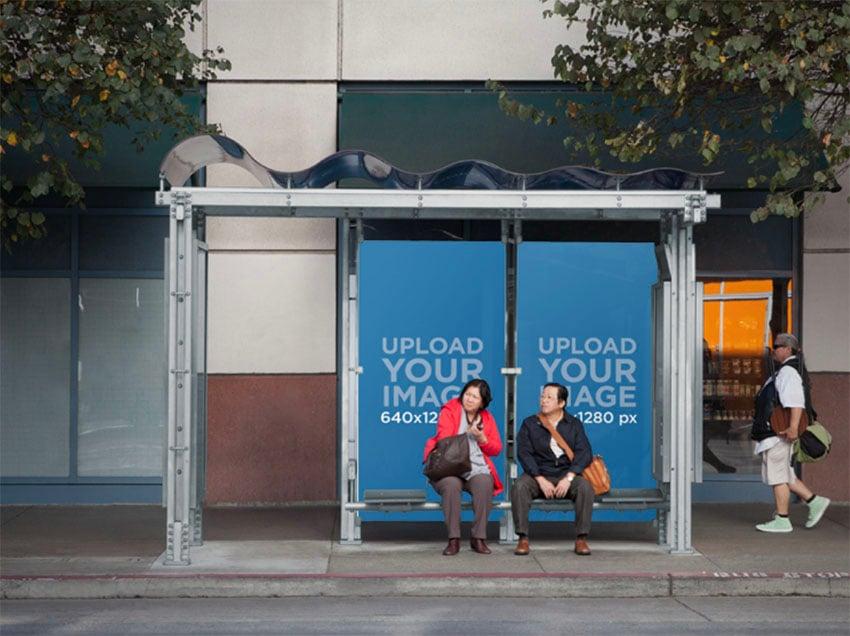 Billboard Street Mockup for Bus Stop
