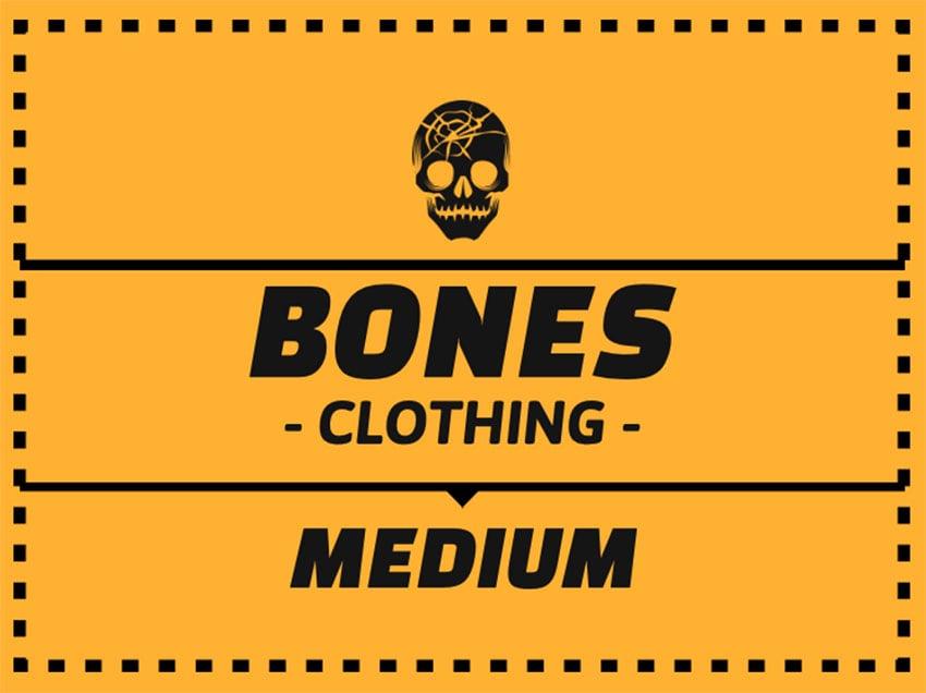 Bones Custom T-shirt Labels