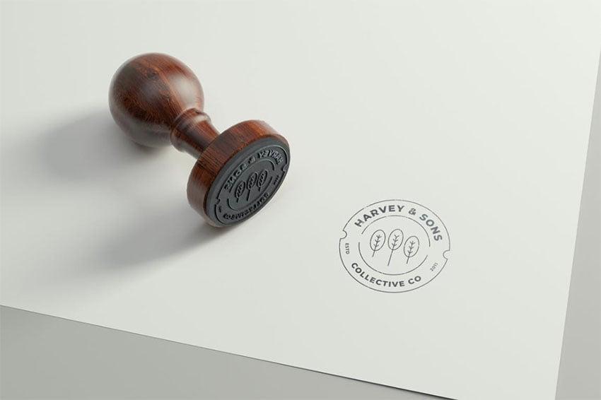 3D Logo Mockup PSD Download