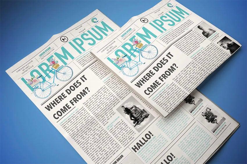 Adobe InDesign Newspaper Template