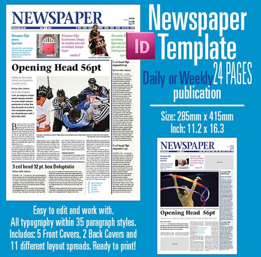 Blank Newspaper Template