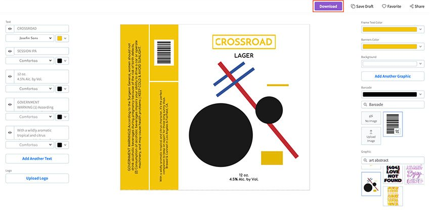Download Your Personalised Beer Label