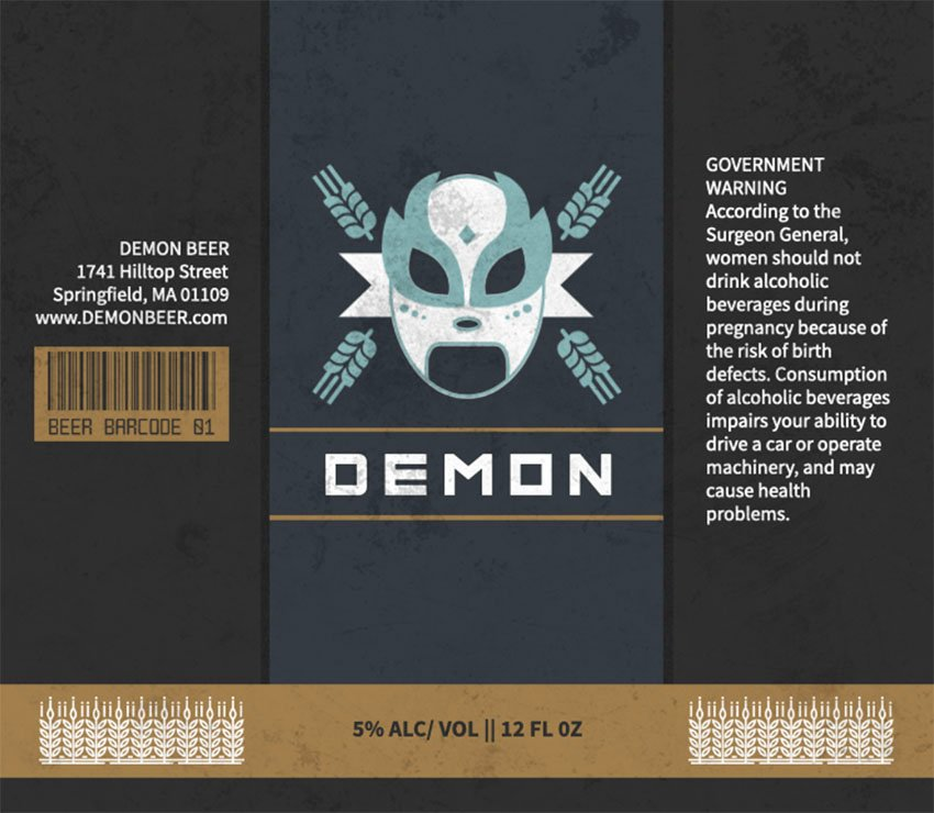 Lucha-Themed Homebrew Beer Labels