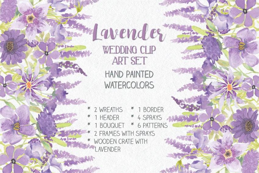 Lavender Botanical Watercolor
