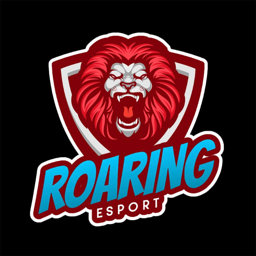 Logo Maker Featuring a Lion Roaring