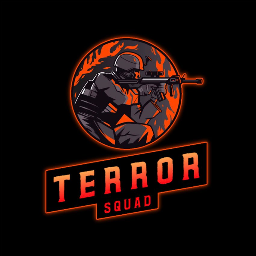 Emblem Logo Creator for a Gaming Squad Featuring a Lethal Shooter