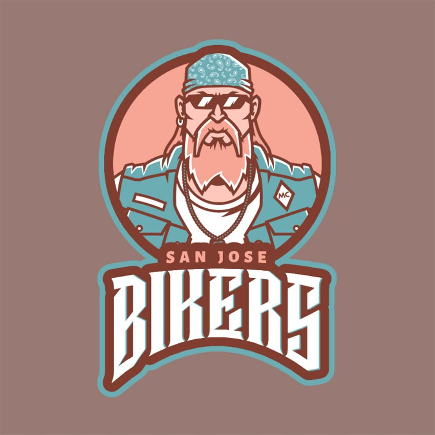Logo Maker with a Fierce Biker Inspired in Grand Theft Auto