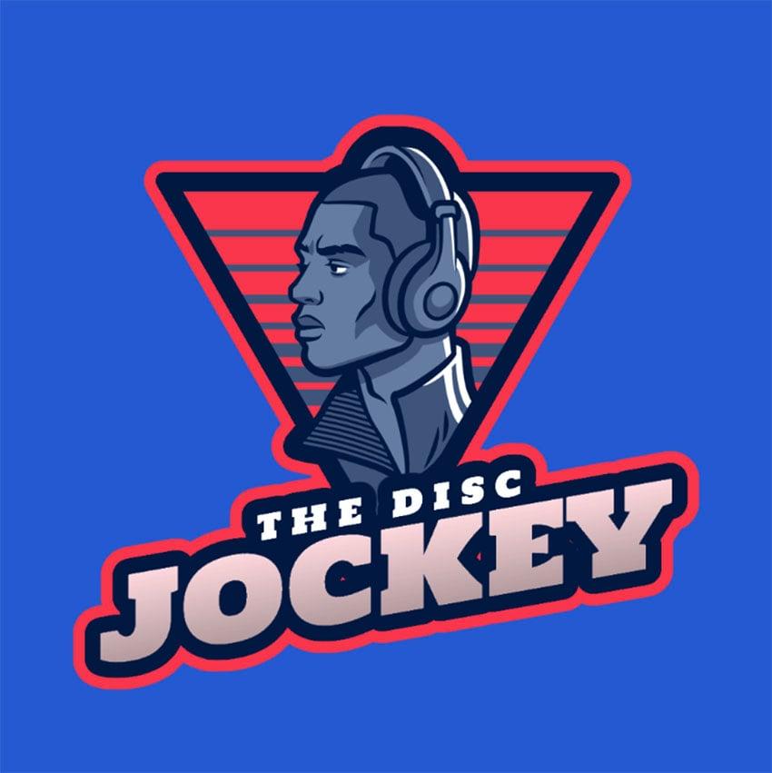 Logo Maker Featuring a Disc Jockey Character