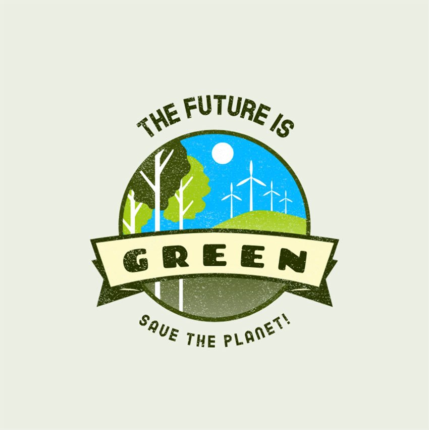Logo Generator Featuring a Round Forest Emblem