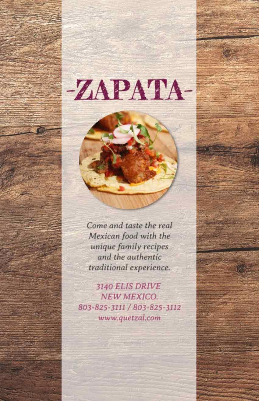 Mexican Fool Flyer Template