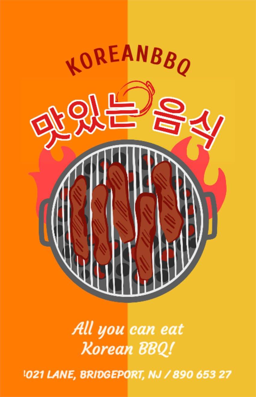 Korean Restaurant Flyer Template