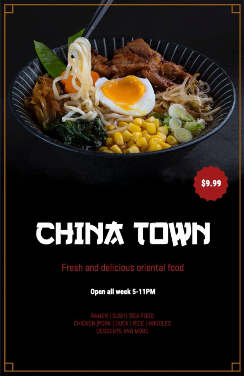 Chinese Restaurant Flyer Design