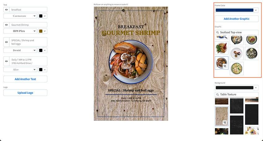 Customise Your Restaurant Flyer