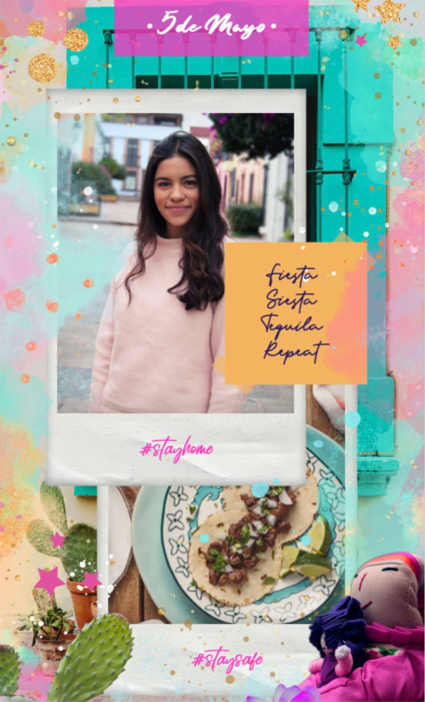 Free Instagram Story Template with 5 de Mayo Theme