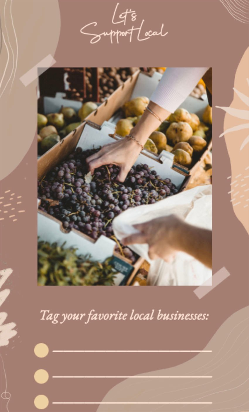 Free Instagram Story Template for Local Business