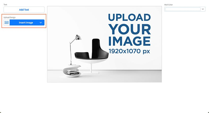 Upload Your Design to Your Wall Mockup