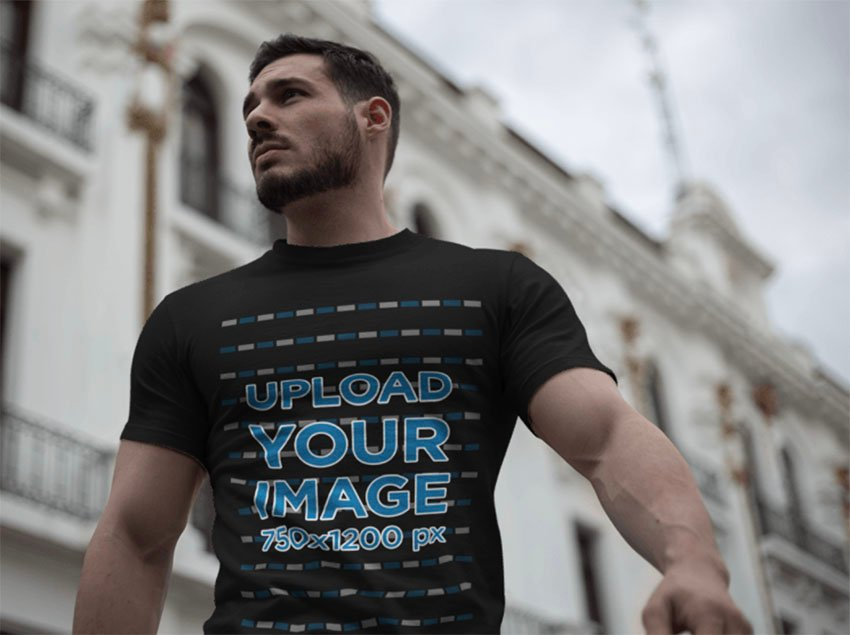Black T-Shirt Mockup Template