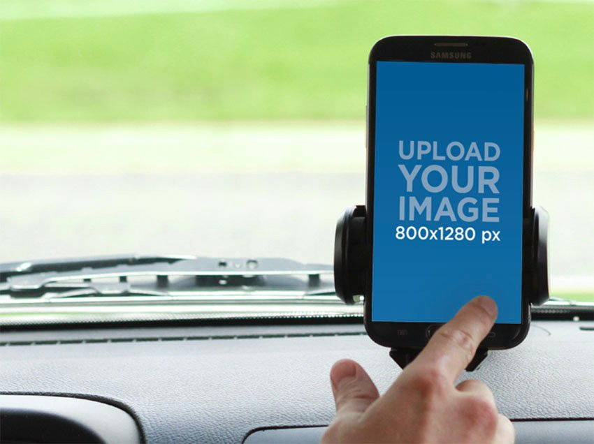 Android Mockup in Car