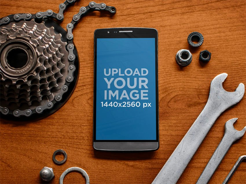 Tools and Android Phone Mockups