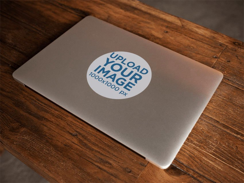 Round Sticker Mockup Templates