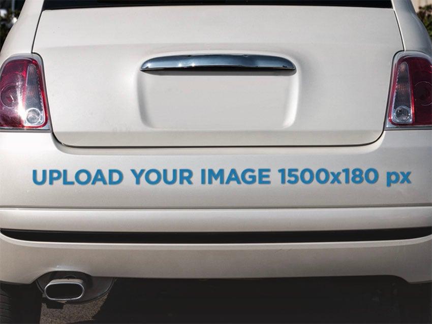 Bumper Sticker Mockup