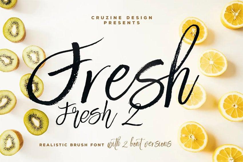Fresh Brush Calligraphy Font