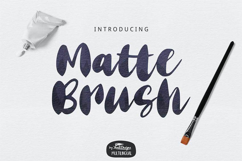 Matte Paint Brush Font