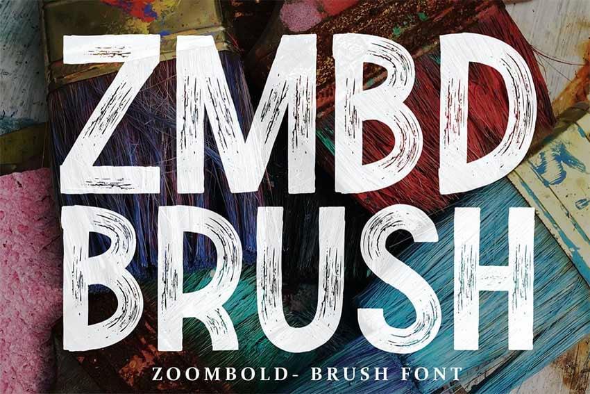 Zoombold Brush Lettering Font