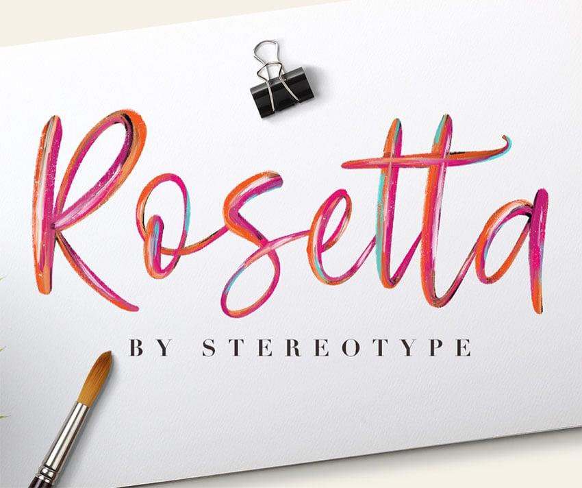 Rosetta Paint Brush Font Free