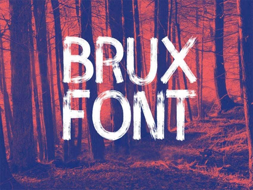 Brux Brush Lettering Font